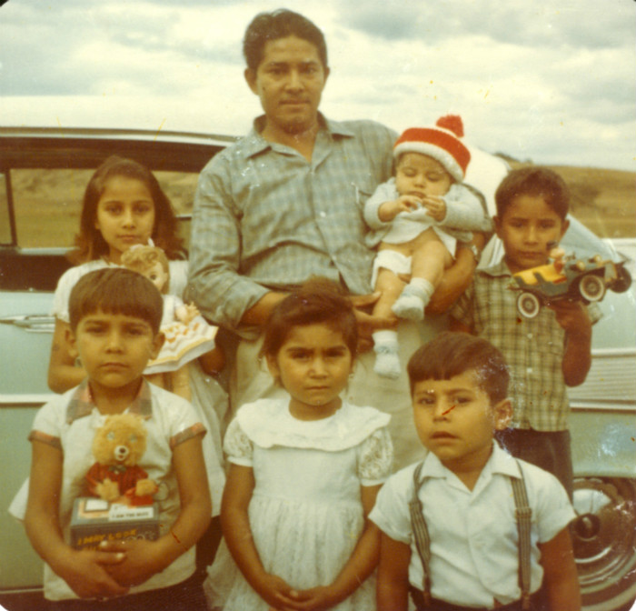 Pablo Ceja and kids in Mexico, 1963