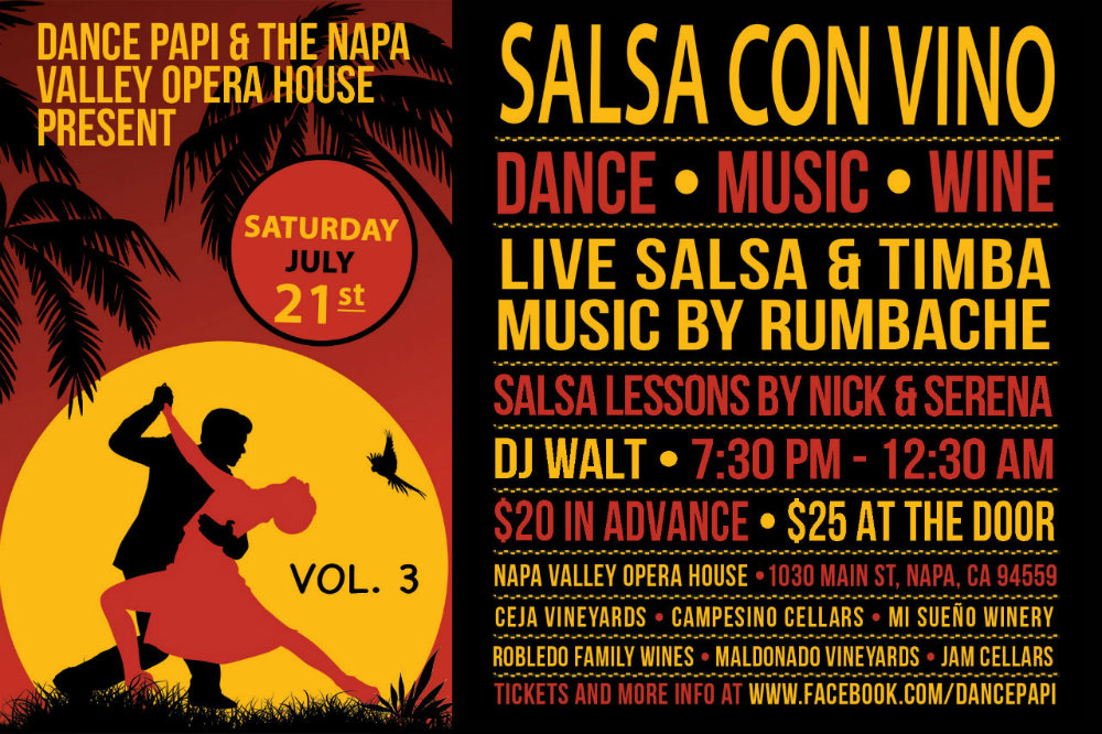 Salsa Con Vino (Vol. 3): July 21st, 2018
