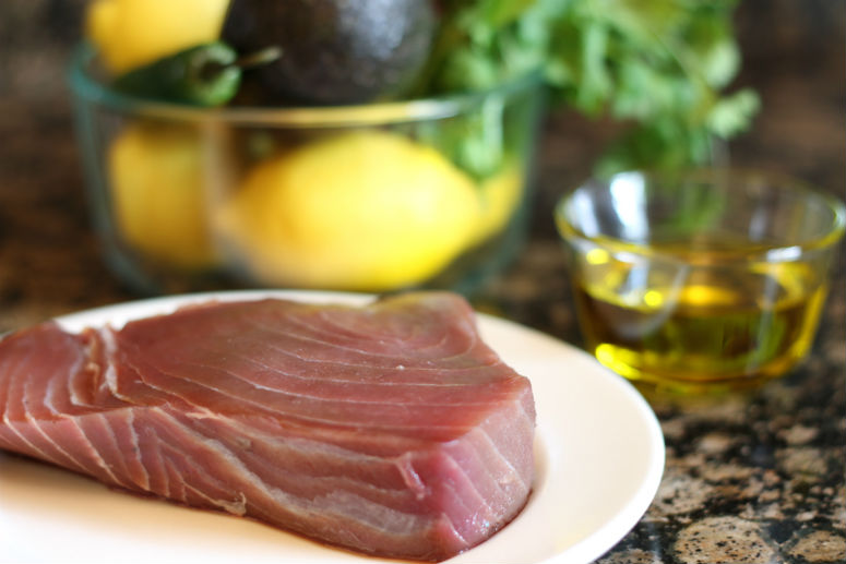 Seared Ahi Tuna and Avocado Tartare Recipe by Ceja Vineyards