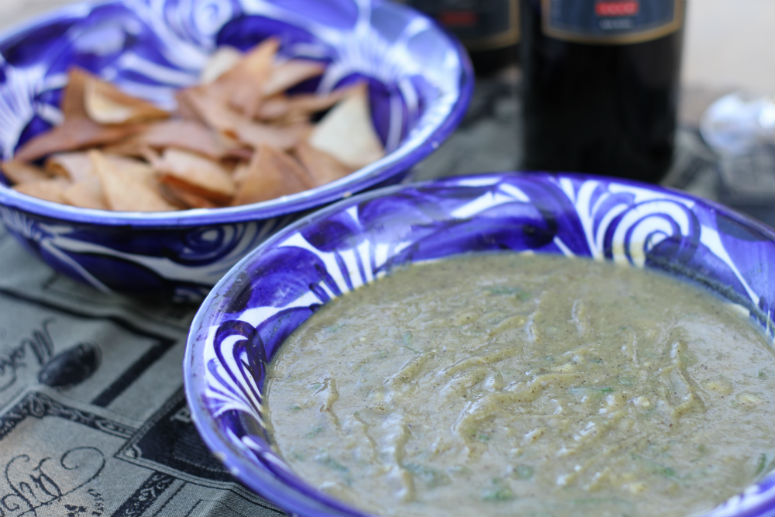 Tomatillo Salsa Recipe by Ceja Vineyards