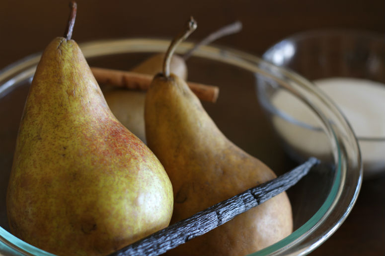 Wine Poached Pears Recipe by Ceja Vineyards