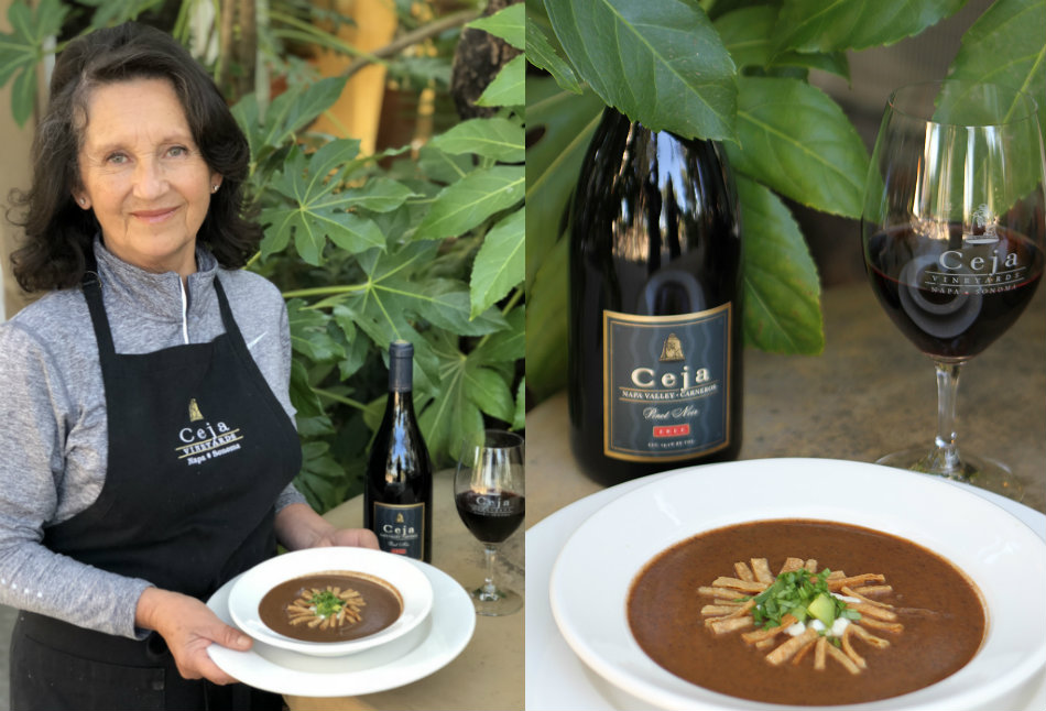 Black Bean Soup Recipe by Ceja Vineyards